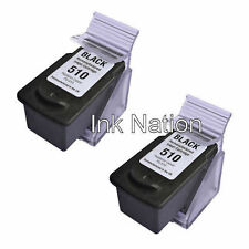 2x Canon PG510 Black Remanufactured Ink Cartridges 2970B001AA