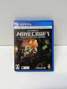 Minecraft (Sony PlayStation PS Vita, 2014) *ENGLISH* JAPAN JP JAPANESE IMPORT