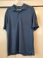 Callaway Golf Short Sleeve Polo Shirt Fairbanks Alaska Blue Mens Size M