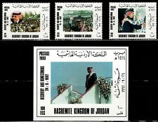 JORDAN 1993 LATE KING HUSSEIN RECOVERY & HOMECOMING FROM CANCER SEP 24 1992 MNH