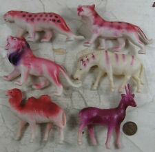 6 Vintage 1950's Celluloid Occupied Japan Wild Zoo Animals