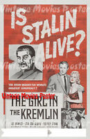The Girl In The Kremlin 1957 Repro Reproduction Print USA Thrillers Poster