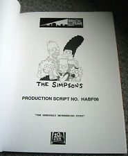 """EMMY Magazine With Complete SIMPSONS Script """"The Seemingly Neverending Story"""""""