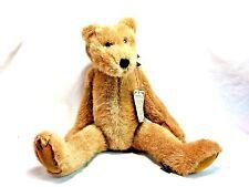 "Boyds 1993 Gae Sharp Sweet Bubba Light Brown Teddy Bear Plush 16"" Fully Jointed"
