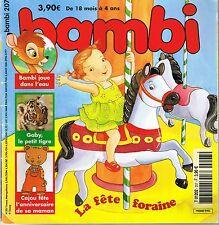 Bambi * n° 207 * 2006 * revue enfant dès 18 mois * fête foraine Tigre vacances