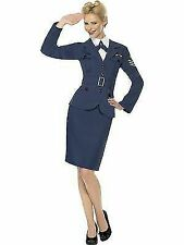 Ww2 Air Force Female Captain - Costume Fancy Dress Womens Outfit 1940s Wartime