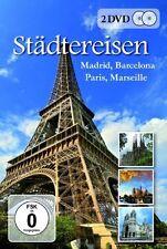 2 DVDs * STÄDTEREISEN - Madrid, Barcelona, Paris, Marseille # NEU OVP ~