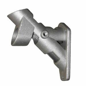 2-Position Flag Pole BRACKET Cast Silver Aluminum 1 In Diameter Mounting Holder