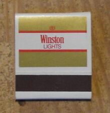 Pochette d'allumettes complète Winston lights, années 1970-1980