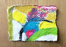 ABSTRACT PAINTING 130 ORIGINAL MINI PAPER DRAWING NIGEL WATERS SIGNED