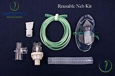 Adult Aerosol Compressor Neb Mask & Reuseable Neb Kit Asthma COPD Allergies