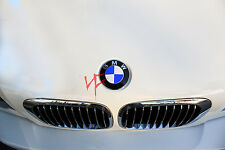 CARBON FIBER RED Roundel Emblem Overlay Decal Sticker FITS BMW HOOD TRUNK
