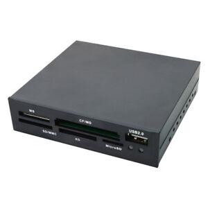 "LogiLink CR0012 Cardreader Kartenlesegerät 3,5"" intern All in One Frontpanel USB"