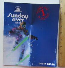 Ski Brochure For Sunday River Maine Winter 1992-1993