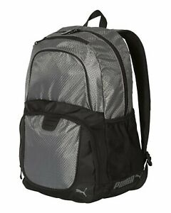 """Puma Backpack 19.5"""" Zippered Pockets Padded Adjustable Shoulder Straps Polyester"""