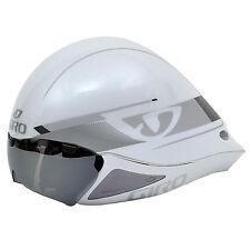 Giro Selector TT Time Trial Triathalon Bike Helmet - S/M 51-57cm White/Silver