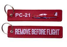 PC-21 Remove Before Flight Key Ring Luggage Tag