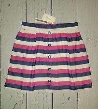TULLE Preppy Nautical Striped Chiffon Full Skirt Pink Navy M