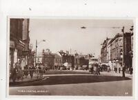 Burnley Town Centre Lancashire Vintage 1940s RP Postcard 387b