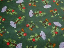 "Peanuts Snoopy Charlie Brown Christmas Tree Green Fabric - Fat Quarter 18"" x 21"""