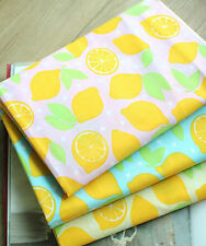 BY THE YARD Lemons Cotton Blend Fabric Quilting Fruit food Polycotton fCB077*
