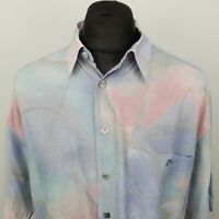 RETRO Mens Vintage Shirt Crazy Funky 80s 90s Hippie 43 44 XL RELAXED ABSTRACT