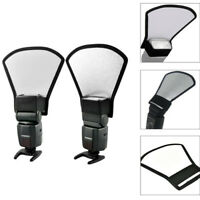 Universal Camera Flash Diffuser Softbox Silver/White Reflector For Speedlight