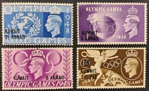 """Kuwait 1948, """"Olympic games"""" set of 4x stamps schd. mh"""