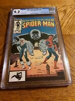 Spectacular Spider-Man #98 CGC 9.2 nm 1985 Black Cat and Kingpin appearance