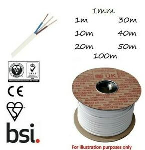 1mm Twin and Earth LSF Cable T&E White Radial Socket Circuits BASEC Approved
