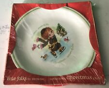 Little Folks Collector's Christmas Plate .season of love Staffordshire England