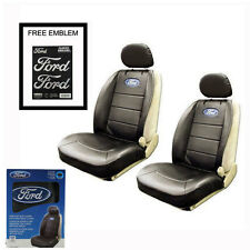 New FORD Elite Synthetic Leather Car Truck 2 Front Sideless Seat Covers Set