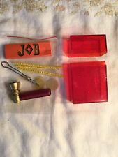 Vintage Unused Job Concert Kit Papers, Pipe W Screen, Roach Clip And Red Case