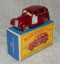 60s.Matchbox.Lesney.17.AUSTIN LONDON TAXI CAB,LIGHT GREY BASE/INT,SPW.MNT IN BOX