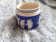 Copeland Late Spode jar/pot classical figure cameo jasper ware blue and white