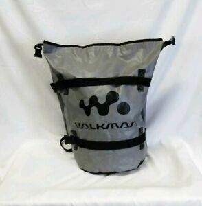 Vintage Walkman Grey VINYL/Canvas Back Pack Vintage 80s 90s Retro sports pack