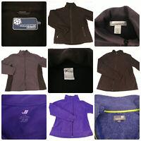 Lot 5 Womens Size Large Fleece Jackets Zip Black Purple Old Navy Jones New York