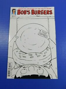 Bob's Burgers #1 2nd Print Dynamite Comics Black & White Cover VF