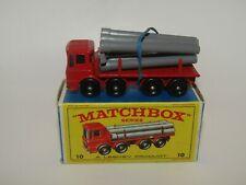 Matchbox Regular Wheels No 10 Pipe Truck VNMIB E4 Box