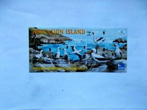 ASCENSION ISLAND: 2004 Birdlife Masked Booby Sheet U/M MS894