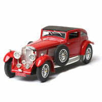 Vintage Bentley 8-Litre 1930 1:32 Scale Model Car Diecast Gift Toy Vehicle Red