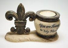 You Are Always in My Heart Votive Holder with Fleur de Lis