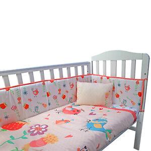 Complete Cot Bedding Set Baby Nursery Fitted Sheet Pillow Pink Duvet  Bumper