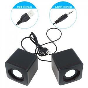 Mini Portable USB Wired 3.5MM Audio Jack Laptop Desktop Computer Stereo Speakers