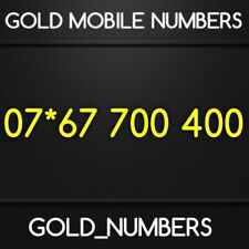 GOLD MOBILE NUMBER 700400 MEMORABLE VIP EASY GOLDEN PHONE NUMBER 07*67700400