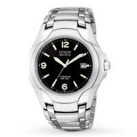 Citizen Eco-Drive Men's Titanium Date Calendar Black Dial 40mm Watch BM6060-57F