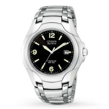 Citizen Eco-Drive Men's Titanium Date Calendar Black Dial 40mm Watch BM6060-57F