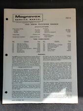Original Magnavox Service Manual 7316 T935 Series Television chassis September 1