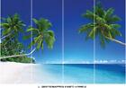 Beach Tropical Tree Sea Blue Sky Photo Wallpaper Wall Mural Home Bedroom Deco