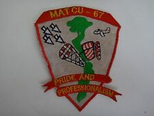 USMC MATCU-67 MARINE AIR TRAFFIC CONTROL UNIT 67 Vietnam War Patch